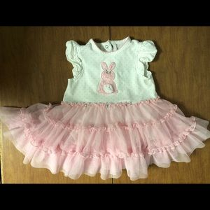 Little Me 9 Months Bunny Dress GUC w/ Fluufy Skirt